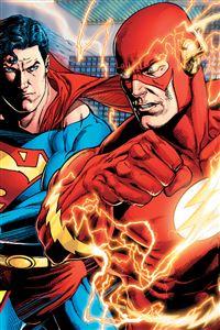 Superman & Flash iPhone 4s wallpaper