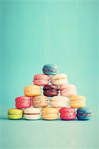 Macarons French Cake Pyramid iPhone 4s wallpaper