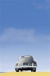 VW Beetle Vector iPhone 4s wallpaper