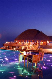 Maldives Tropical Resort Evening iPhone 4s wallpaper