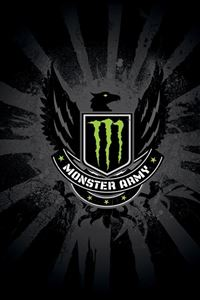 Monster Army Logo iPhone 4s wallpaper