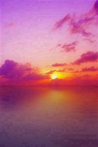 Nature Mystery Beautiful Sunrise Landscape iPhone 4s wallpaper