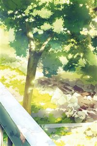 Anime Background Art Illust Forest iPhone 4s wallpaper