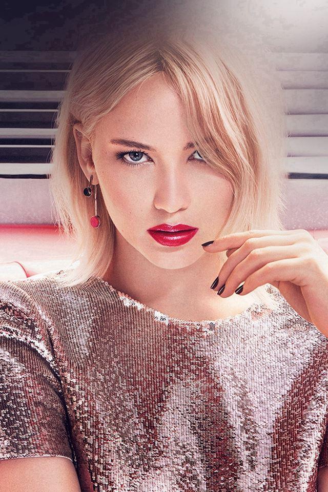 Jennifer Lawrence Girl Gaze Film Actress iPhone 4s wallpaper