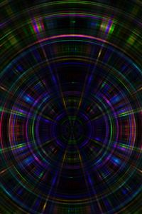 Circle abstract dark rainbow pattern iPhone 4s wallpaper