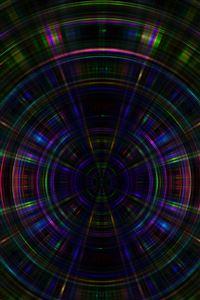 Circle abstract dark rainbow pattern iPhone 4s wallpaper