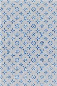 Louis Vuitton blue pattern art iPhone 4s wallpaper