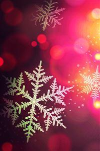 Christmas bokeh iPhone wallpaper