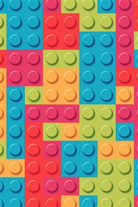 Rainbow lego art  iPhone 4s wallpaper
