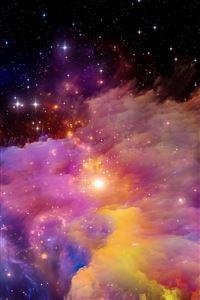 Aurora space art iPhone 4s wallpaper