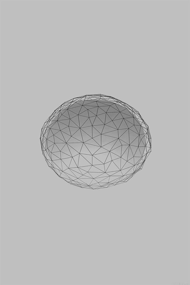 Abstract line white circle art digital simple iPhone 4s wallpaper
