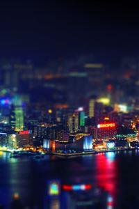 Hongkong night iPhone 4s wallpaper