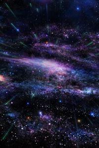 Art star tree sky space iPhone 4s wallpaper