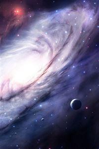 Space sky 3d art iPhone wallpaper