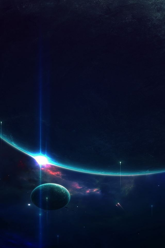 Space of mystery stars and blackhole iPhone 4s wallpaper