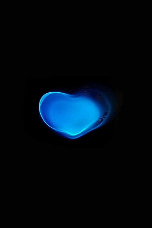 Love art blue dark iPhone 4s wallpaper