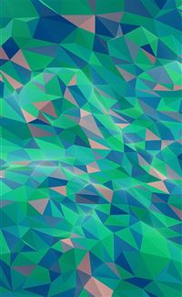 Abstract poly art pattern green iPhone 4s wallpaper