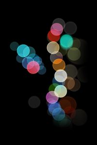 Abstract rainbow light iPhone 4s wallpaper