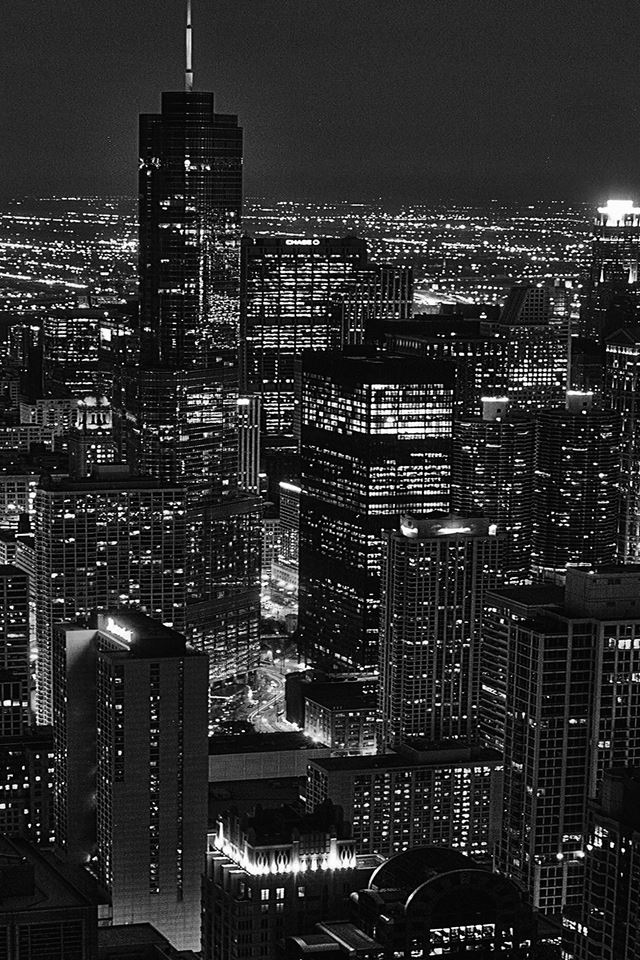 City view night dark iPhone 4s wallpaper