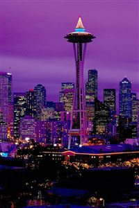 Purple City iPhone wallpaper