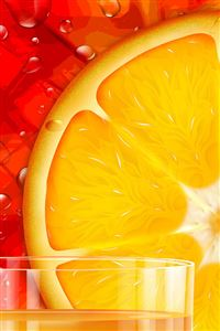 Orange Slice iPhone wallpaper