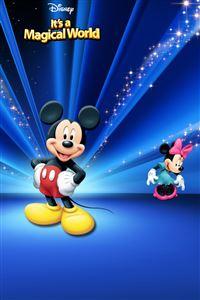 Disney  Characters Dark Blue iPhone 4s wallpaper