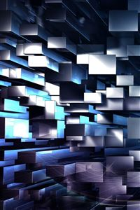 3D Geometric Background iPhone 4s wallpaper