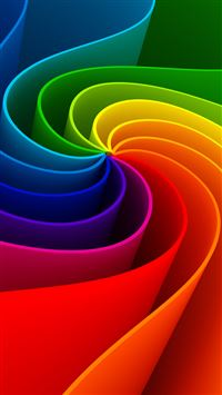 Colorful 3D Swirl iPhone 8 wallpaper