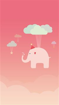 Cute Elephant iPhone 8 wallpaper