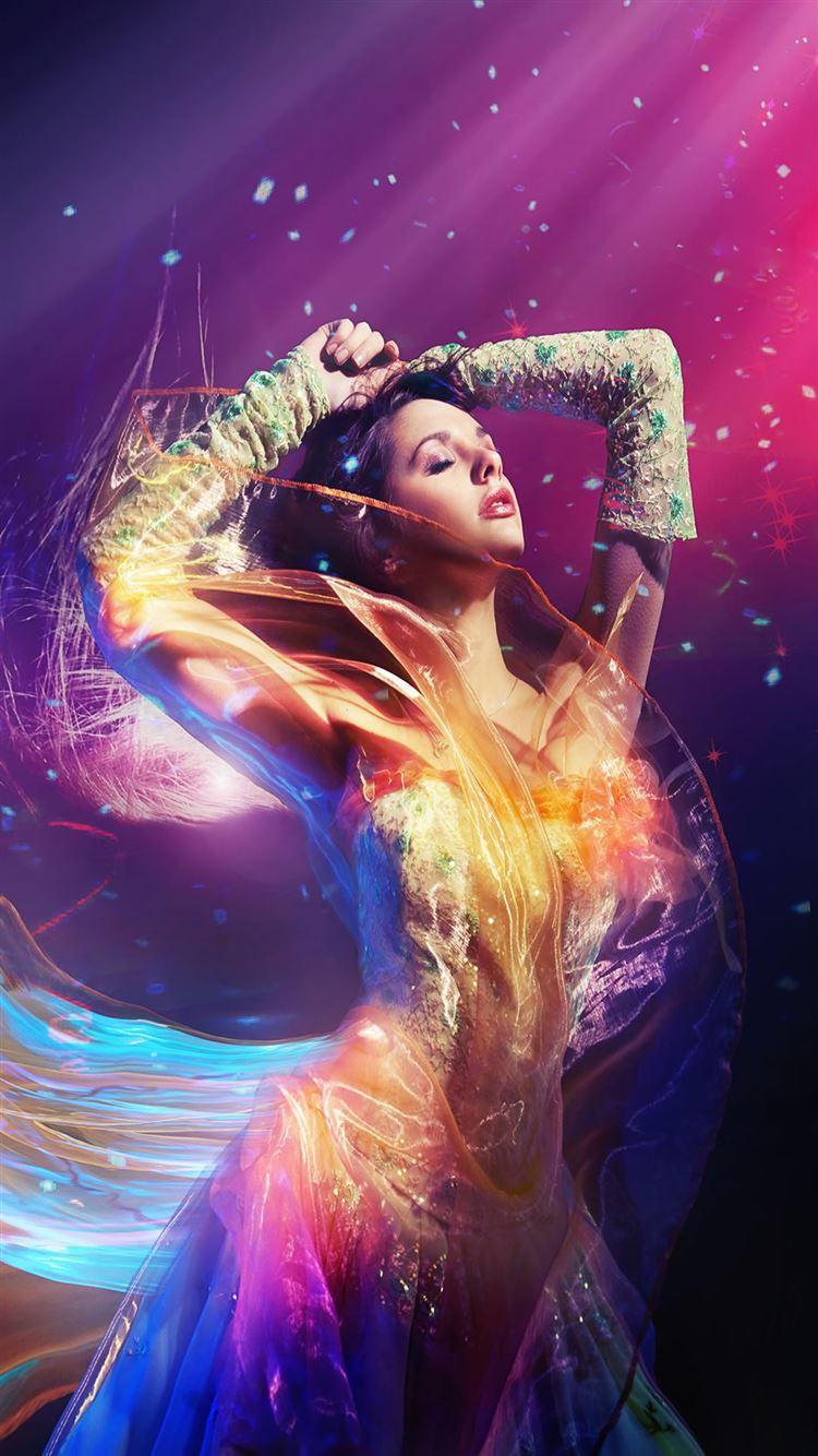 Color Fantasy Girl iPhone 8 wallpaper