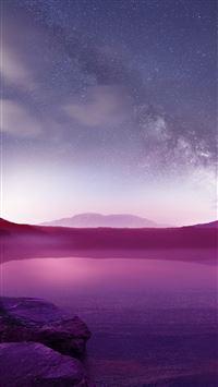 Purple Lake iPhone 8 wallpaper