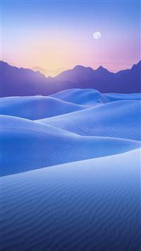 Blue Desert Sunset iPhone 6(s)~8(s) wallpaper