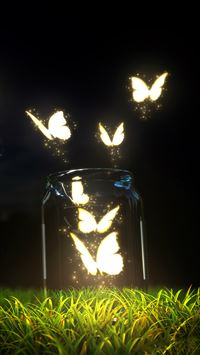 Fantasy Butterfly Jar iPhone 8 wallpaper