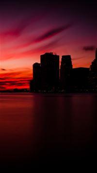 Manhattan Sunset iPhone 8 wallpaper