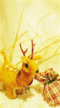 Christmas Deer iPhone 8 wallpaper