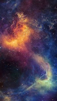 Beautiful Colored Space Nebula iPhone 6(s)~8(s) wallpaper
