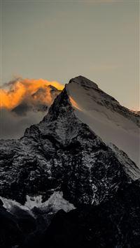 Himalaya Mountains Sunset Fire iPhone 6(s)~8(s) wallpaper