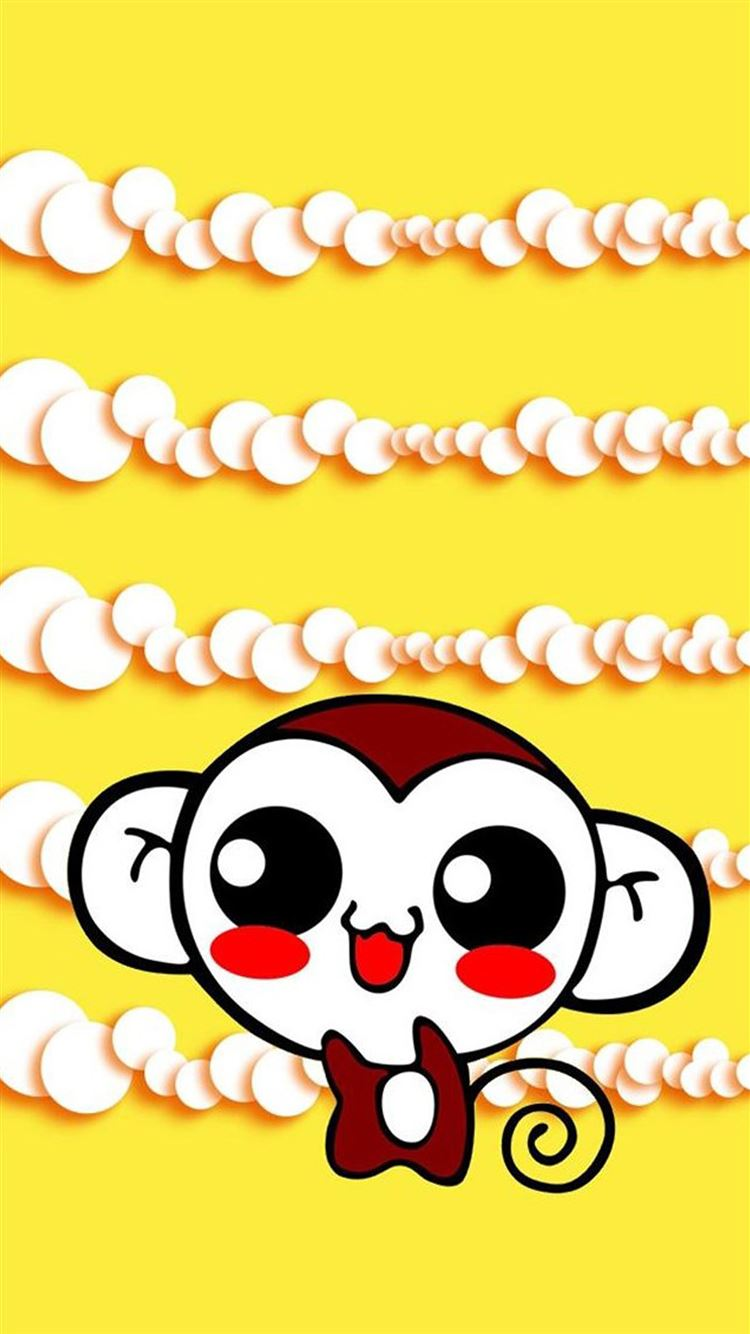 Cute Sweet Hippie Monkey IPhone 8 Wallpaper Download