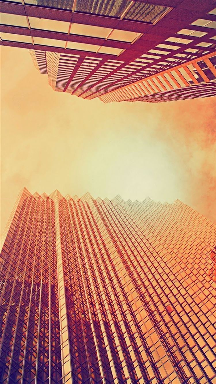 Skyscrapers At Noon Look Up iPhone 8 wallpaper