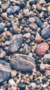 Nature Smooth Pebble Piles iPhone 8 wallpaper