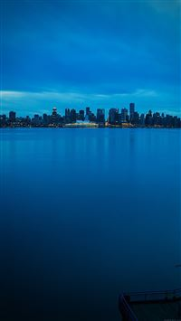 Nature Afternoon Blue City Lake Landscape iPhone 8 wallpaper
