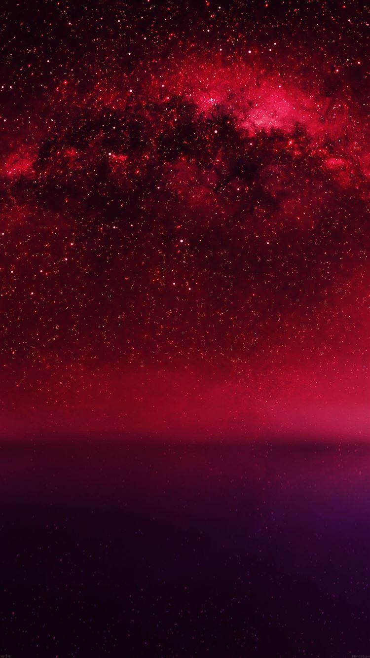 Cosmos Red Night Live Lake Space Starry IPhone 8 Wallpaper