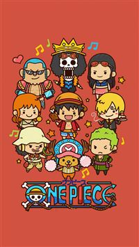 Cute Lovely One Piece Cartoon Poster iPhone 6(s)~8(s) wallpaper