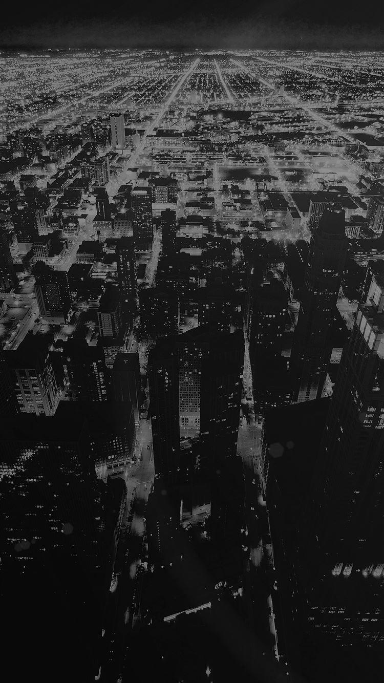 Chicago Night Sky City Dark IPhone 8 Wallpaper Download