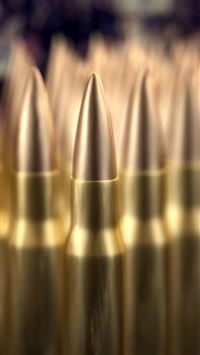 Military Bullet Pile Macro Bokeh iPhone 8 wallpaper