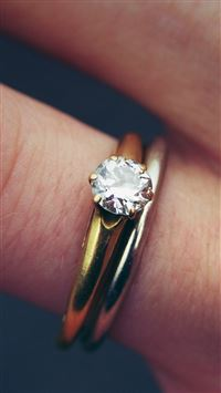 Engagement Diamond Ring Closeup iPhone 8 wallpaper