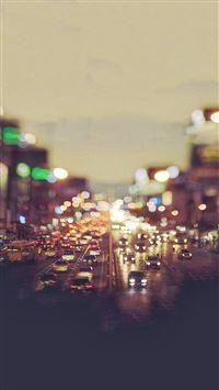 City Traffic Evening Tilt Shift iPhone 8 wallpaper