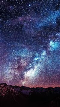 Amazing Milkyway Space Mountain Red iPhone 6(s)~8(s) wallpaper