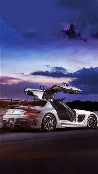 Mercedes SLS AMG Coupe Black Series IPhone 8 Wallpaper