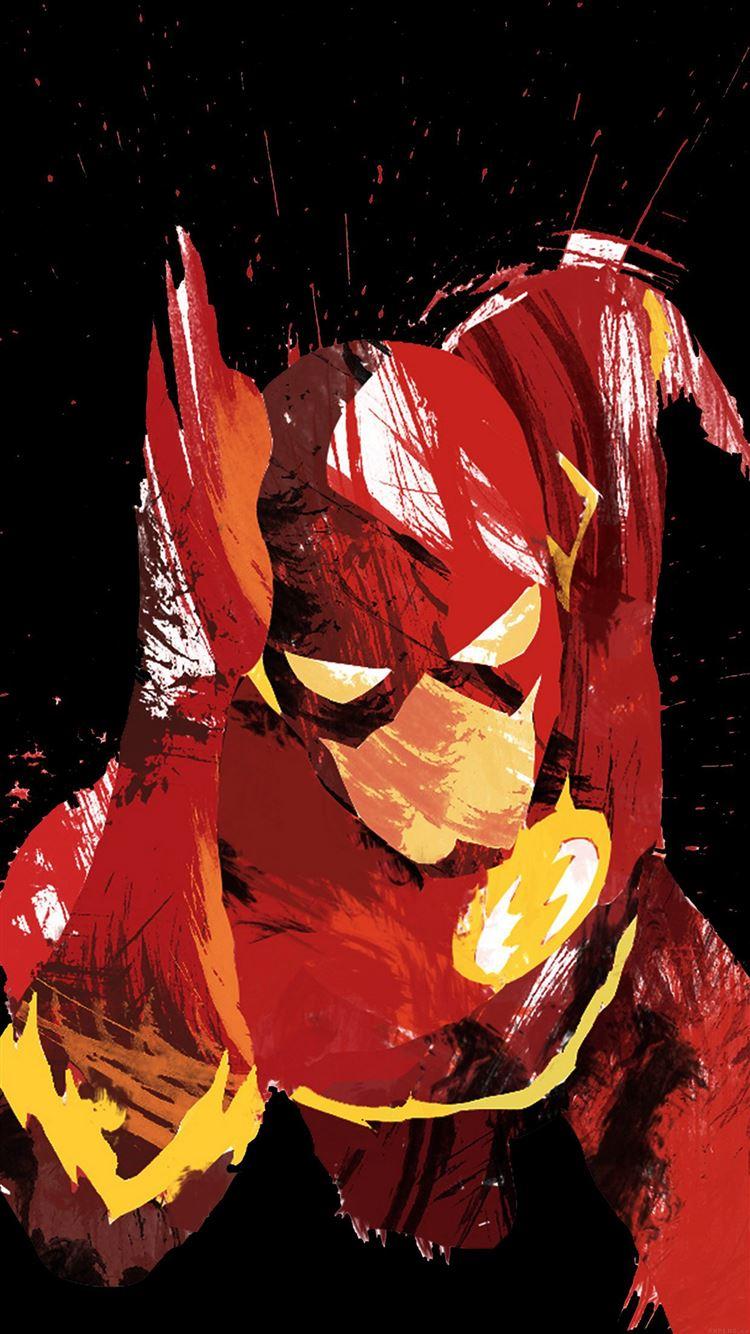 Flash Speed Dark Hero Illust Minimal Art IPhone 8 Wallpaper Download